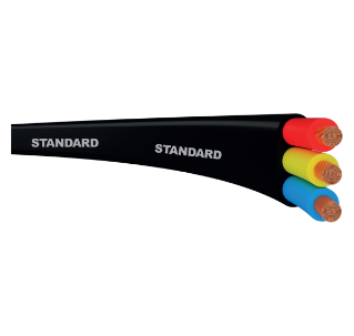 Standard - Flat three core submersible cables 100 m